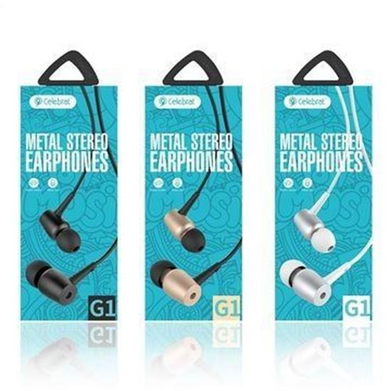 Picture of metal stereo earphones G1