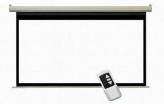 صورة : شاشة عرض بروجكتر بيضاء كهربائية 300 في 300 سم