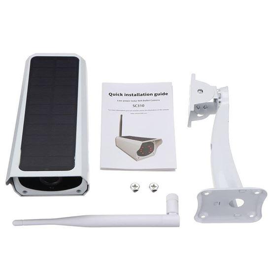 صورة : كاميرا  المراقبة اللاسلكية  و تعمل بالطاقة الشمسية