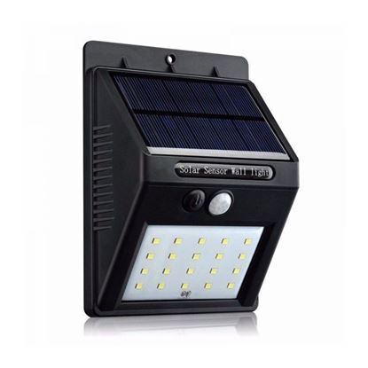 Picture of Generic Solar Sensor Wall Light - Black