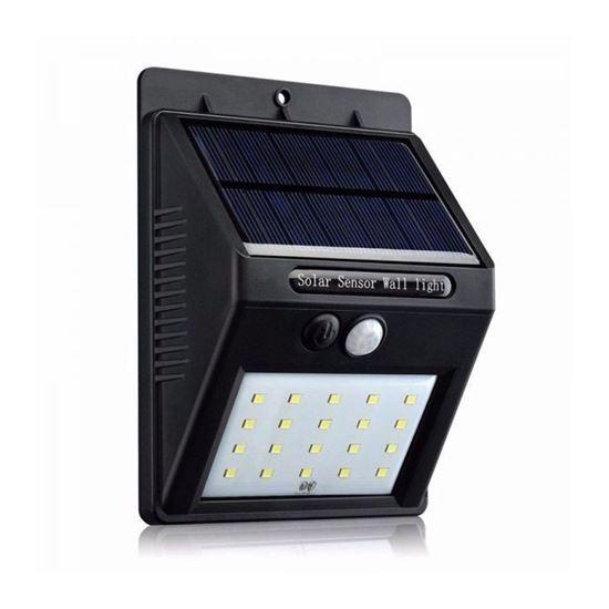 صورة : Generic مصباح حائط يعمل بالطاقة الشمسية - أسود