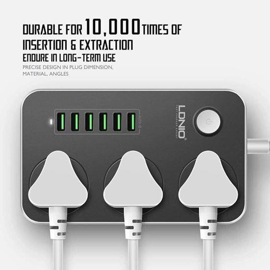 صورة : مشترك (6USB & 3 Power Socket) من ( Ldnio )